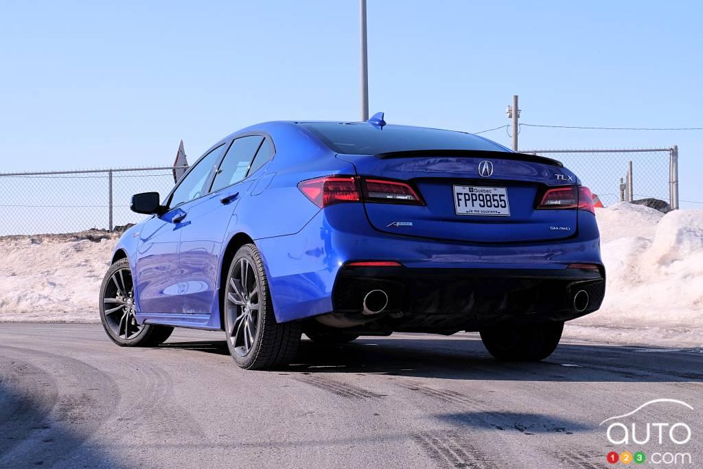 Acura TLX 2020, trois quarts arrière