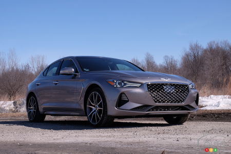 2020 Genesis G7, three-quarters front