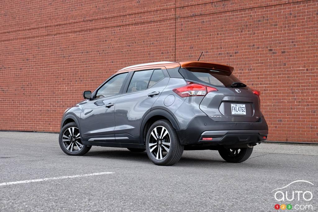 Nissan Kicks 2020, trois quarts arrière