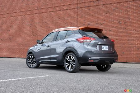 2020 Nissan Kicks, three-quarters rear