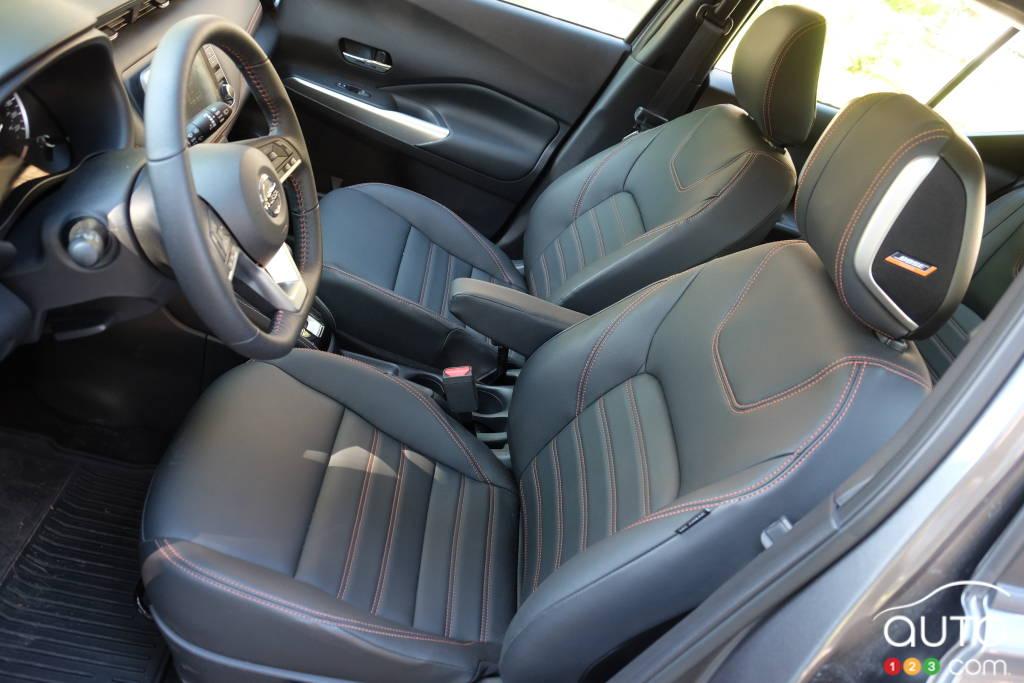 Nissan Kicks 2020, sièges