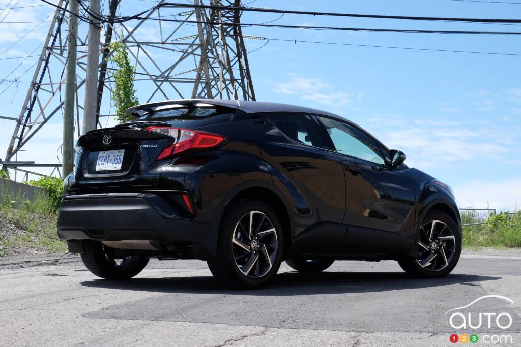 Toyota C-HR 2020, trois quarts arrière