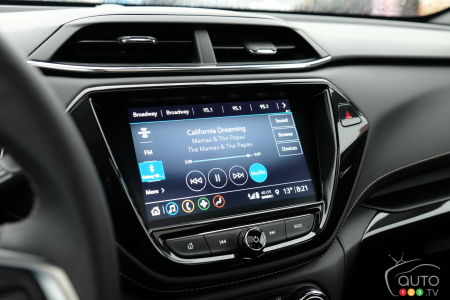 2021 Chevrolet Trailblazer, multimedia screen