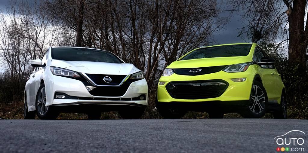Nissan LEAF et Chevrolet Bolt