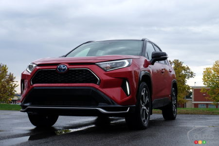 2021 Toyota RAV4 Prime, three-quarters front