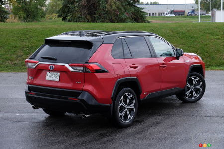 2021 Toyota RAV4 Prime, three-quarters rear