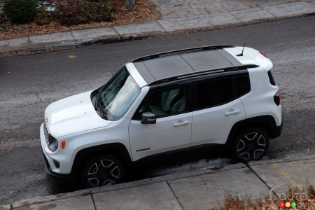 2020 Jeep Renegade, from above