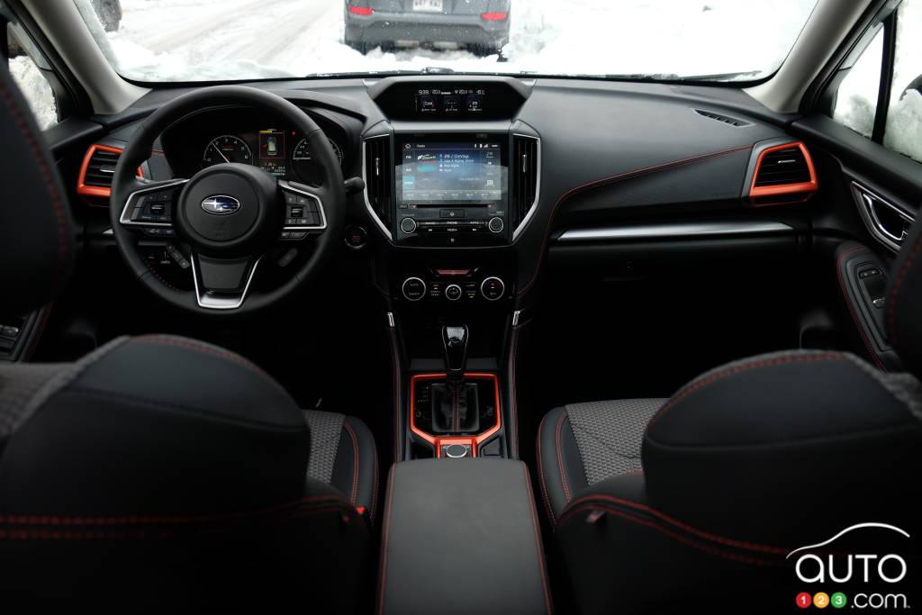 Subaru Forester, tableau de bord