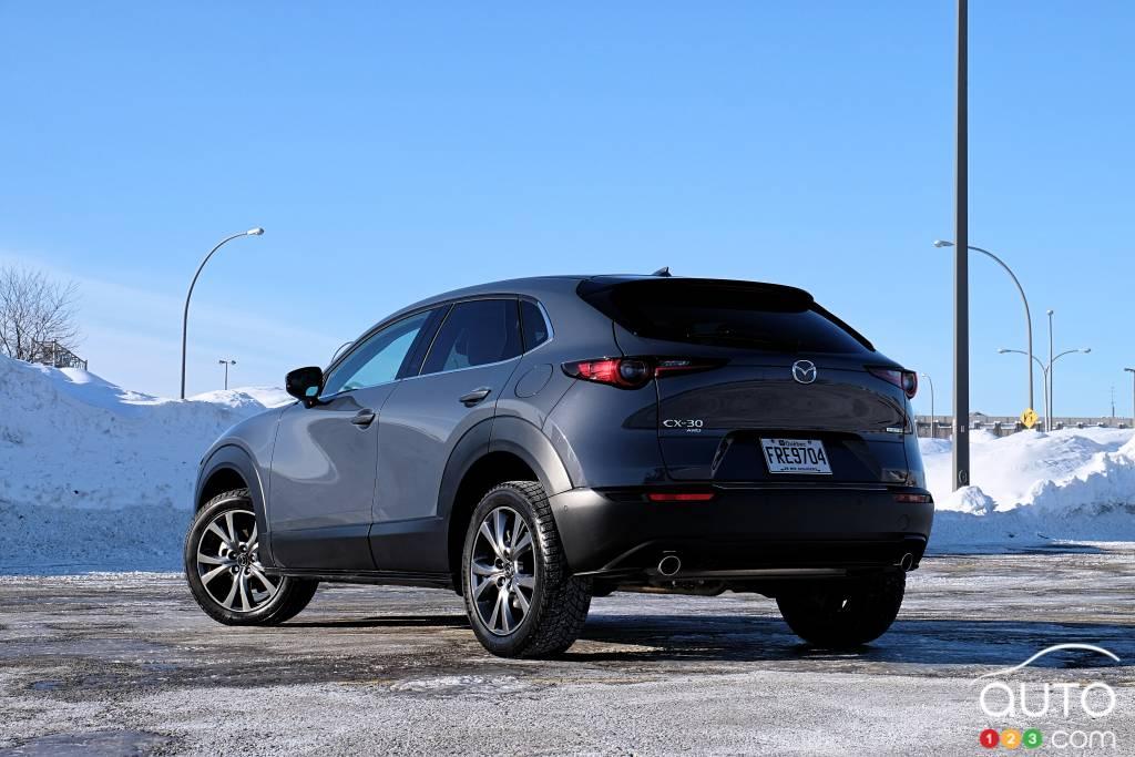 Mazda CX-30 2021, trois quarts arrière