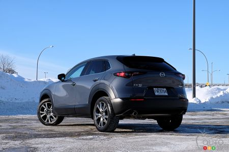 2021 Mazda CX-30, three-quarters rear