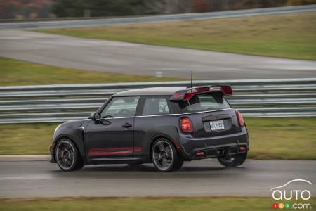 2020 Mini John Cooper Works GP, three-quarters rear