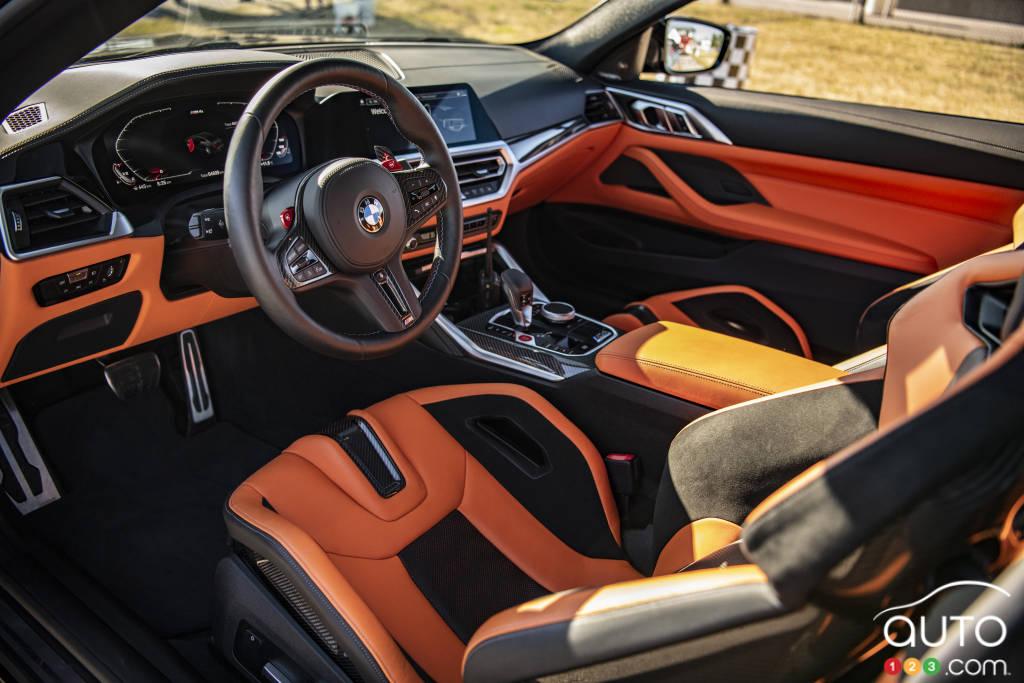 La BMW M4 Competition, intérieur