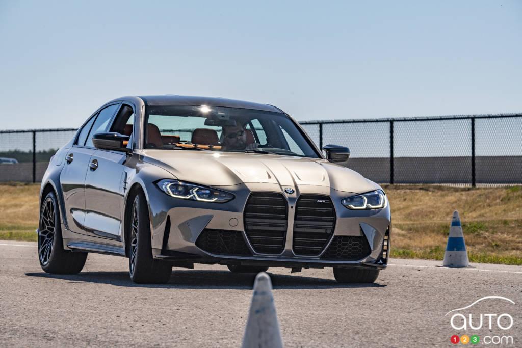 La BMW M3, sur la piste