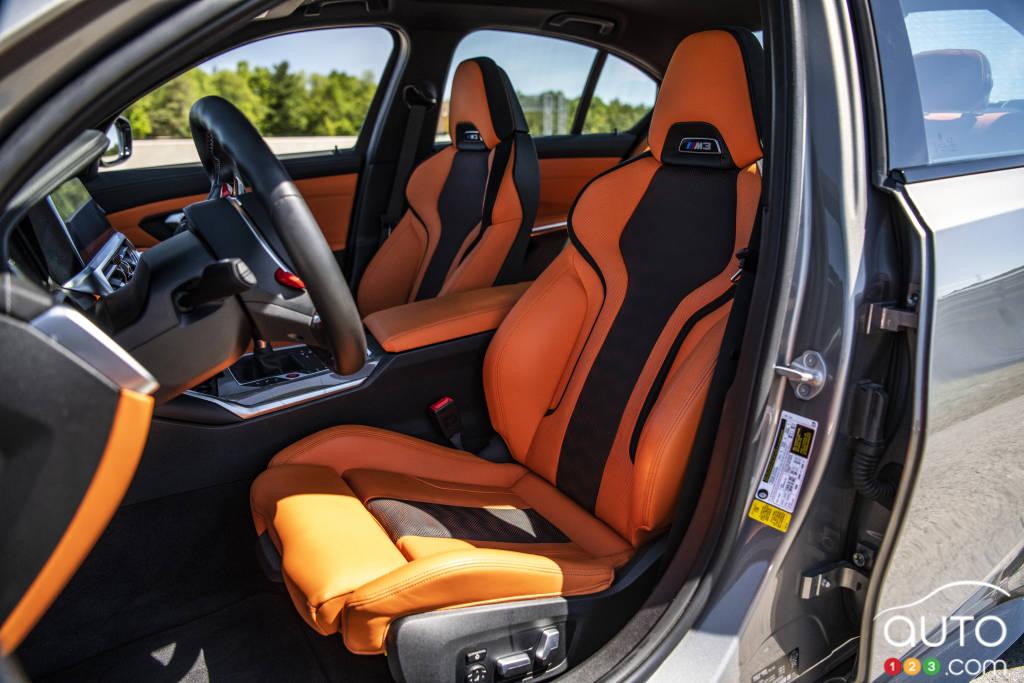 La BMW M3, intérieur