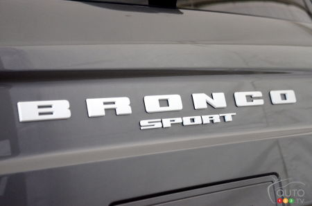 2021 Ford Bronco Sport, badging