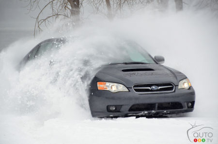 The 2007  Subaru Legacy, shod with Michelin X-ICE SNOW tires