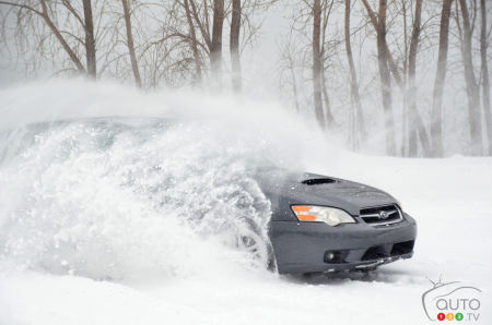 The Subaru Legacy with Michelin X-ICE SNOW tires