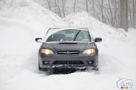 The 2007 Subaru Legacy, front