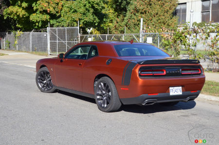 2020 Dodge Challenger R/T Scat Pack, three-quarters rear
