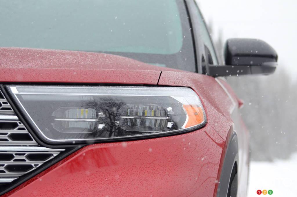 Ford Explorer hybride 2021, phare
