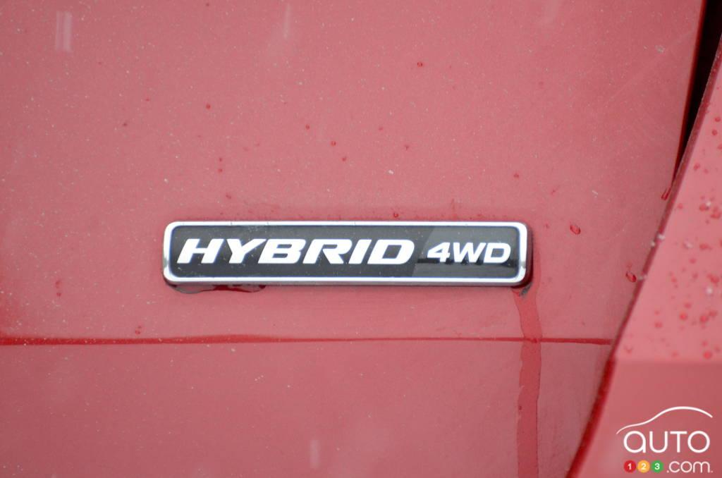 Ford Explorer hybride 2021, écusson hybride