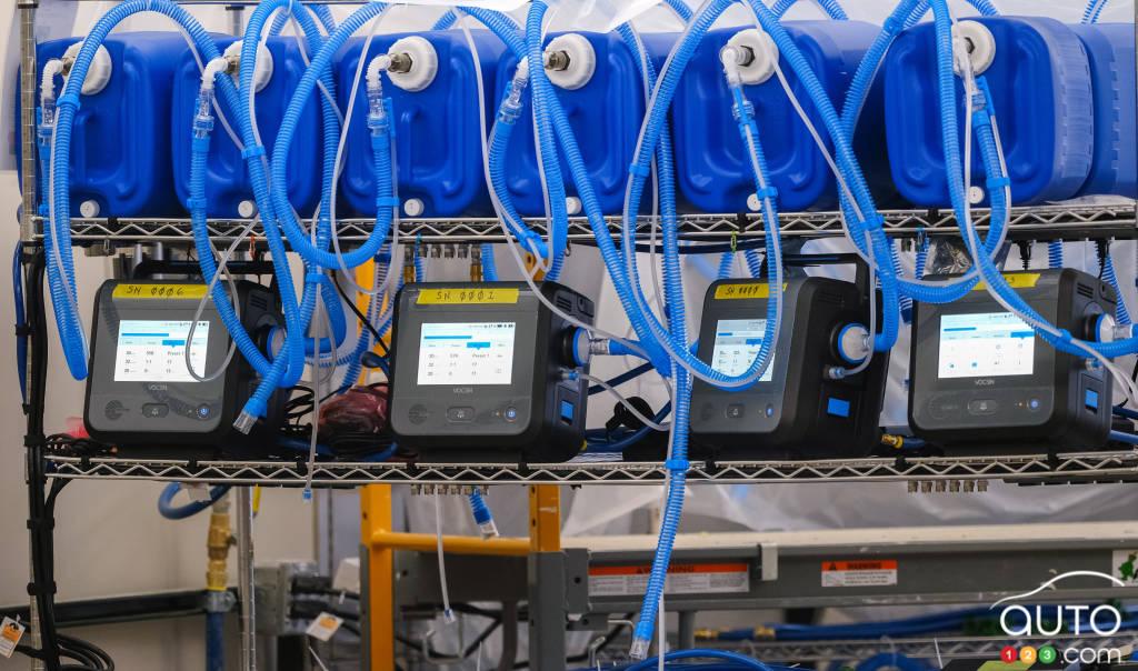 Des respirateurs fabriqués à l'usine GM à Kokomo