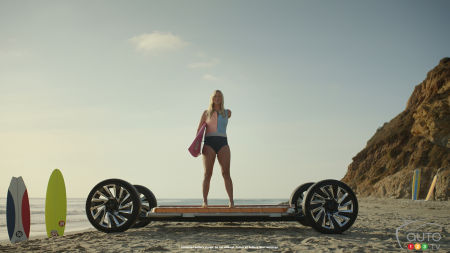 Image from Everybody In ad campaign, with pro surfer Bethany Hamilton