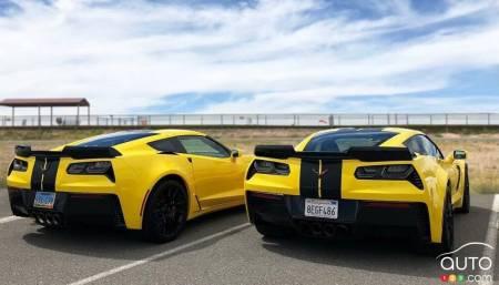 Deux Chevrolet Corvette Z06 dans la flotte de Hertz