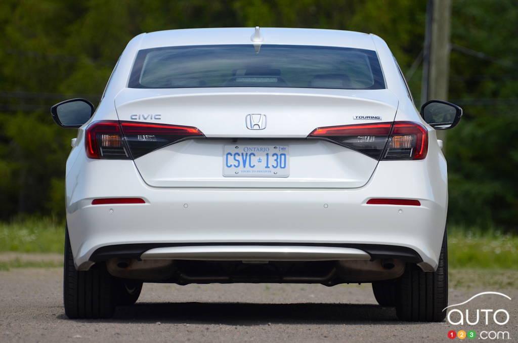 Honda Civic Touring 2022, arrière