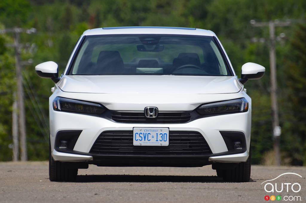 Honda Civic Touring 2022, avant