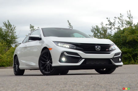 2020 Honda Civic Si Coupe, three-quarters front
