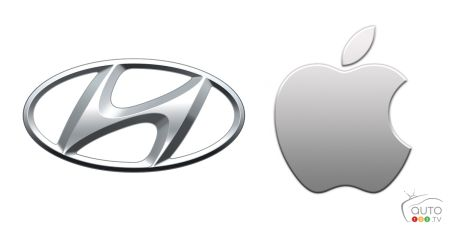 Hyundai, Apple logos