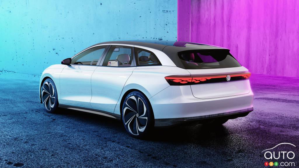 Prototype Volkswagen ID. Space Vizzion, trois quarts arrière