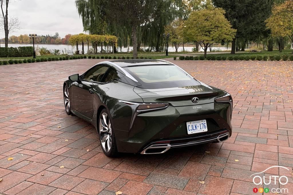 Lexus LC 500 2021, trois quarts arrière
