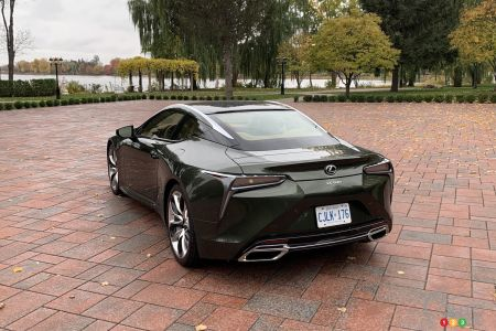 2021 Lexus LC 500, three-quarters rear