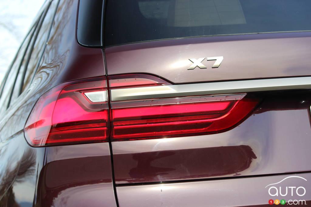 BMW X7 M50i 2020, feux