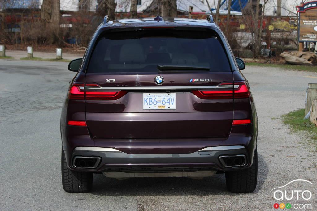 BMW X7 M50i 2020, arrière