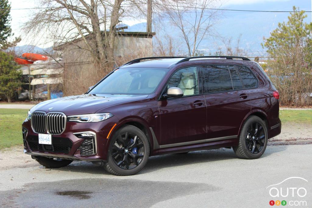 BMW X7 M50i 2020, trois quarts avant