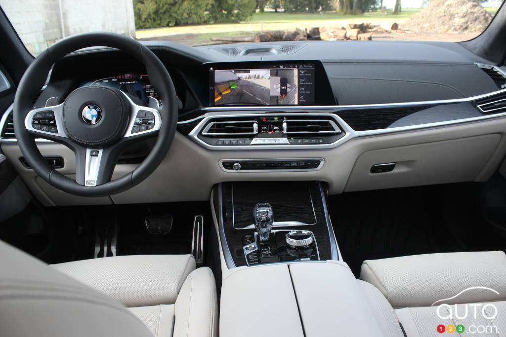 BMW X7 M50i 2020, intérieur