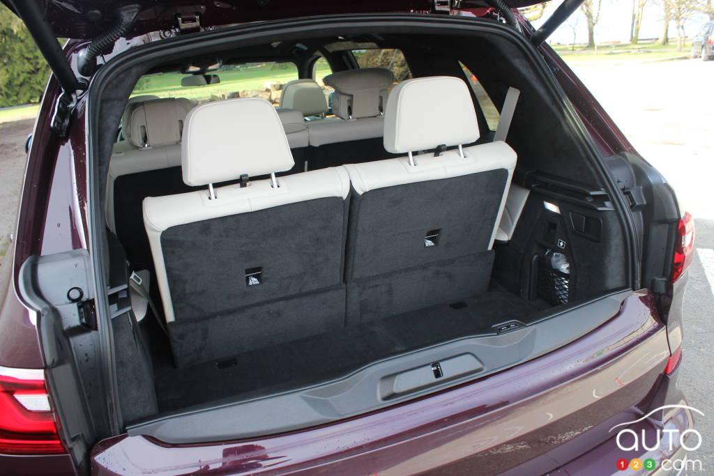 BMW X7 M50i 2020, coffre