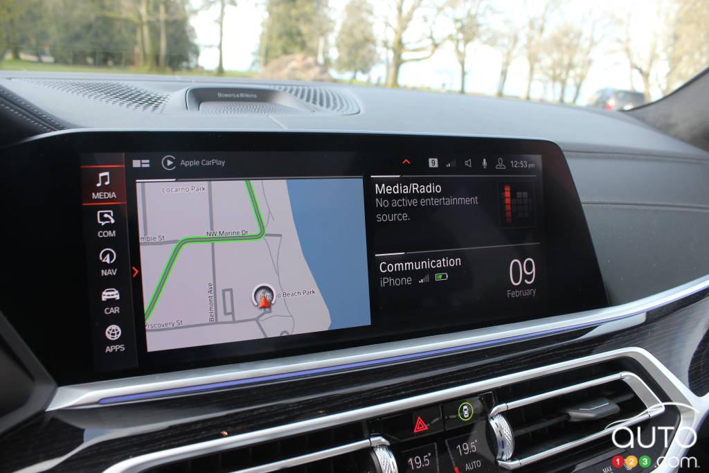 BMW X7, écran multimédia