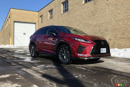 2020 Lexus RX 450h, three-quarters front