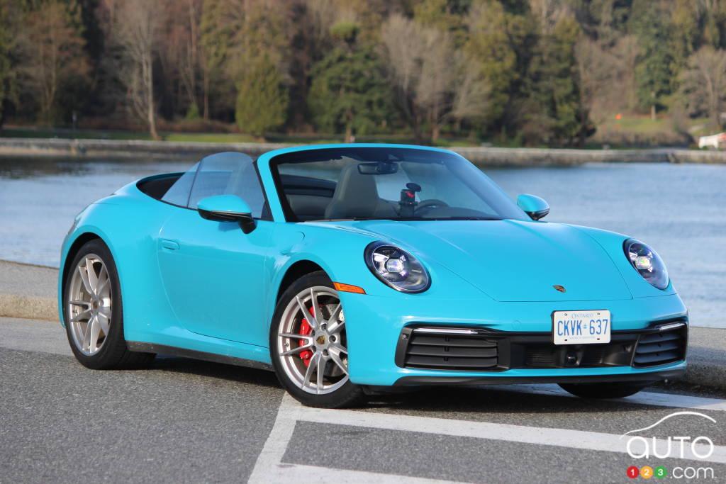 Porsche 911 Carrera S 2020, trois quarts avant