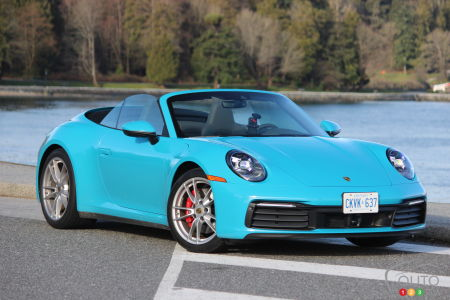 2020 Porsche 911 Carrera S, three-quarters front