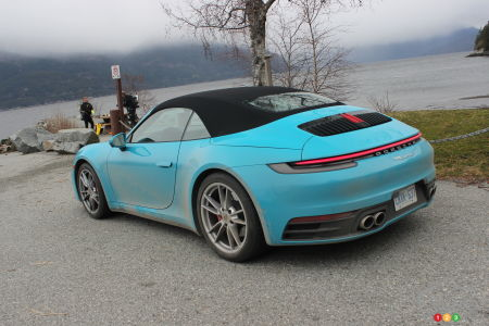 2020 Porsche 911 Carrera S, three-quarters rear