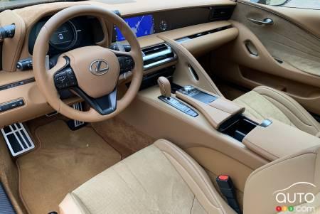 2021 Lexus LC 500, interior