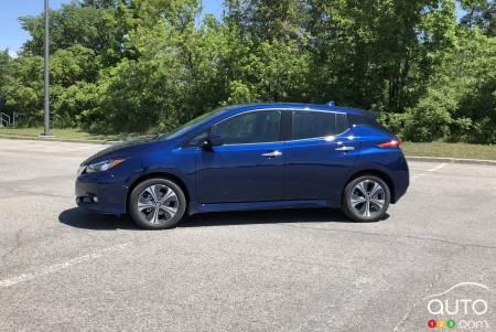 2020 Nissan LEAF Plus, profile
