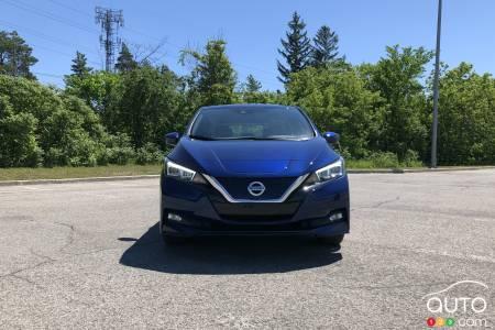 2020 Nissan LEAF Plus, front