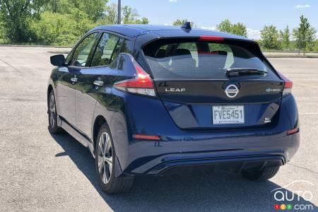 2020 Nissan LEAF Plus, three-quarters rear