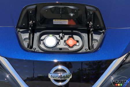 2020 Nissan LEAF Plus, charging inputs